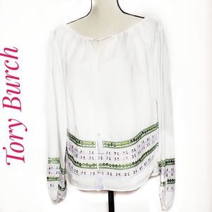 Tory Burch Madeline sequin top blouse